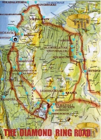 A big map of the Diamond Circle, which is stepped in history and offers surprising new view