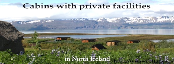 Cabins with private facilities in Husavik Iceland Myvatn region