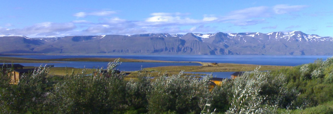 the cottages in Husavik Iceland have stunning view of the mountains and sea